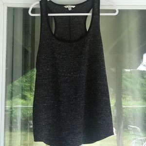 CAbi Charcoal Sleeveless Sweater Tank